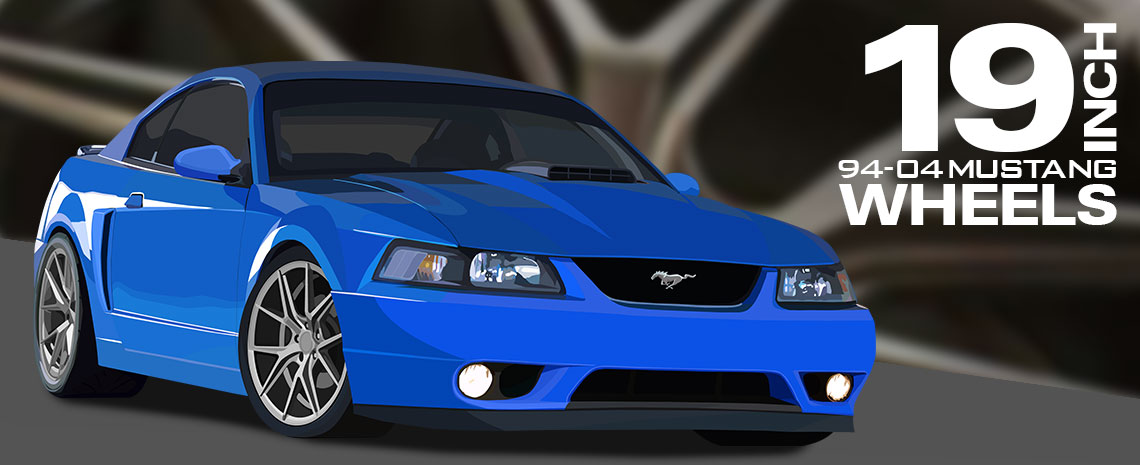 1994 04 Mustang 19 Inch Wheels American Renegade