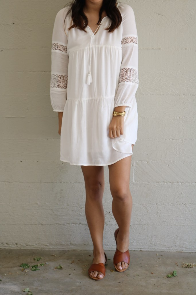 old navy white dress