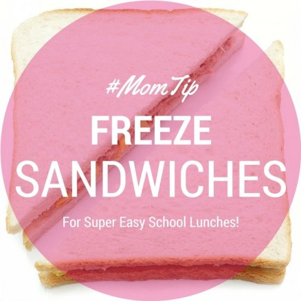 You can freeze many types of sandwiches for easier school lunches! Get a list of examples from The Analytical Mommy!