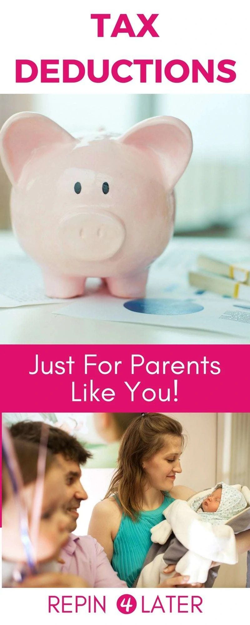 Great post with a tax deduction list for families!