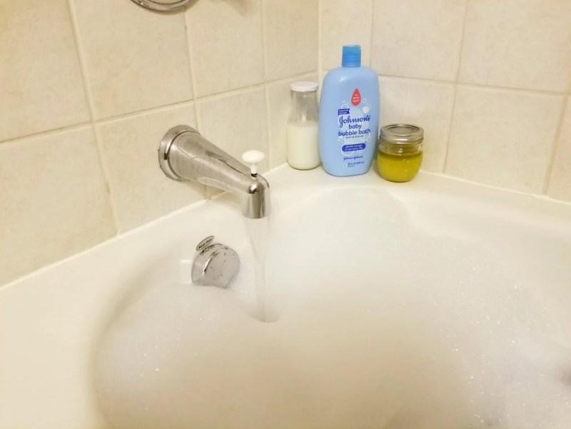 DIY sugar scrub recipe, bubble bath recipe, lavender, at home spa