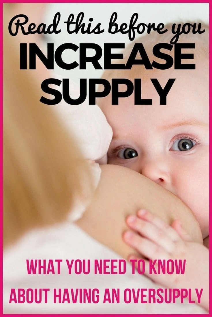 Having an oversupply sounds great right? Then you definitely need to read this before you increase your supply! Many moms spend hours looking up how to increase supply without ever checking oversupply of breastmilk signs. Read this so you know if you have an overssuply and if not, what the challenges of having an oversupply are before you try to increase breastmilk supply!