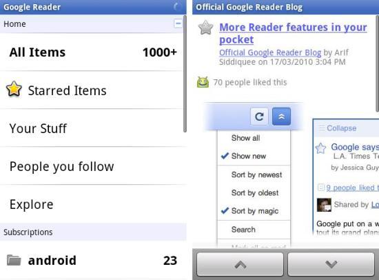 Google Reader Android App