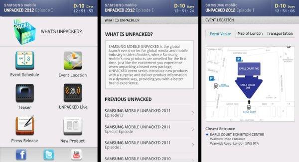 Unpacked 2012 App