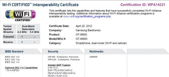 Wifi Certification I9800 - Galaxy SIII: o que podemos esperar para amanhã