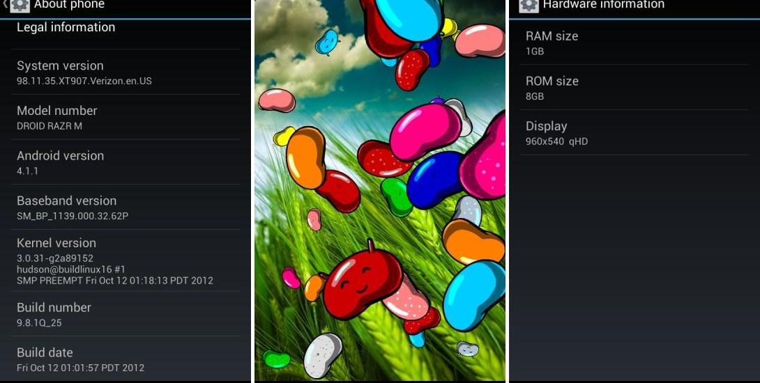Motorola Razr M Jelly Bean Update Leak