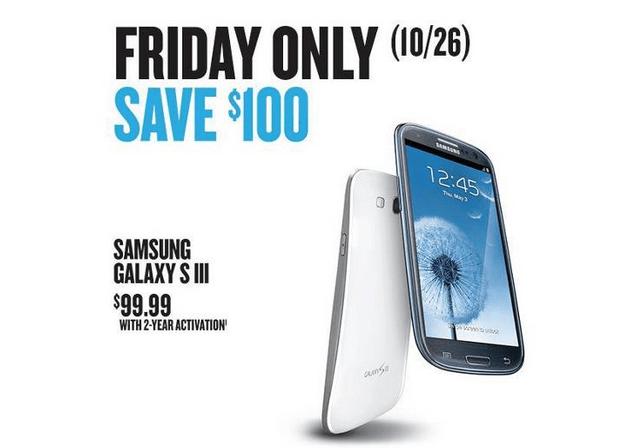 Samsung Galaxy S3 Price $99