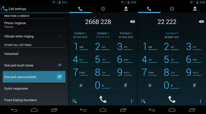 Android 4.3 T9 Dialer