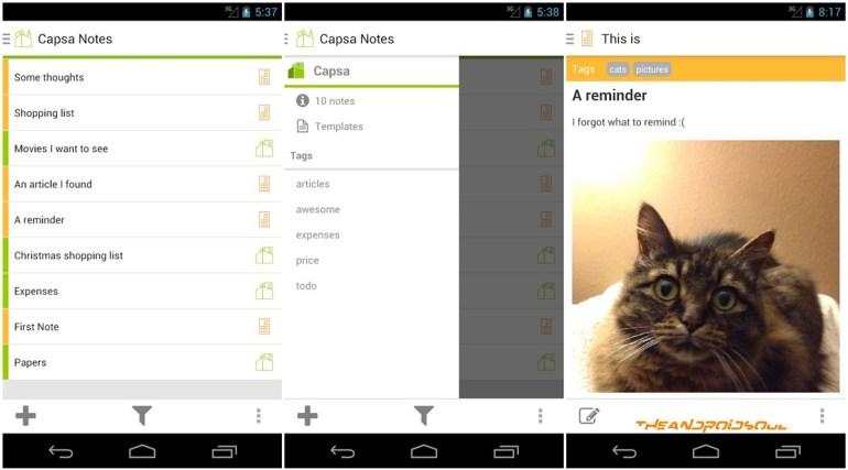 theandroidsoul.com capsa notes features android application