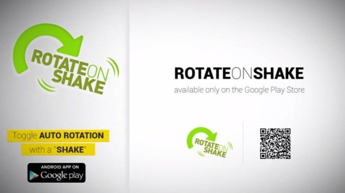 Shake to rotate