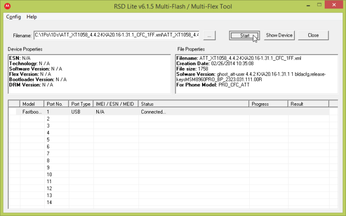 RSD Lite select file