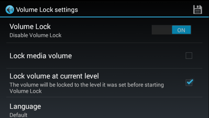 Lock ringtone volume