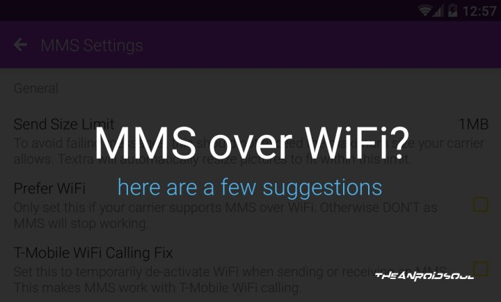Android app to send and receive mms