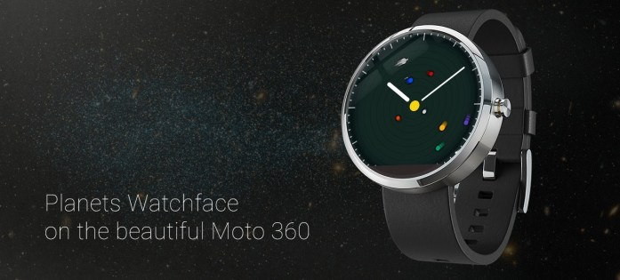 Planets Watchface on Moto 360