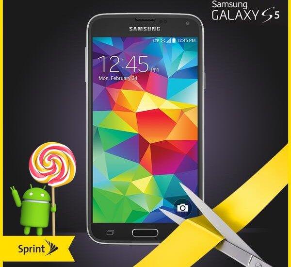 Sprint Galaxy S5 Lollipop Update