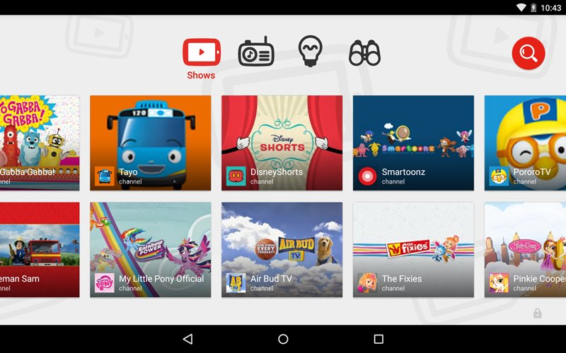 YouTube Kids Interface