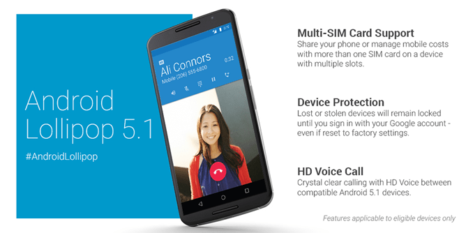 Android 5.1 Lollipop Update