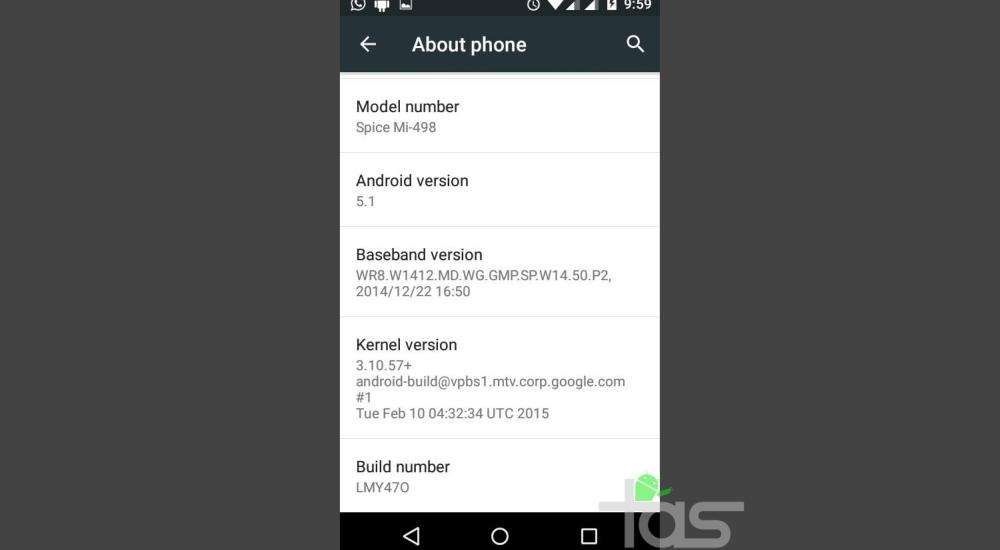 Android 5.1 Update Spice Dream uno