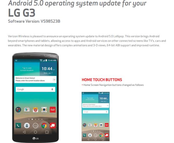 lg g3 update