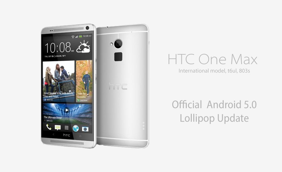 htc one max official Android lollipop update