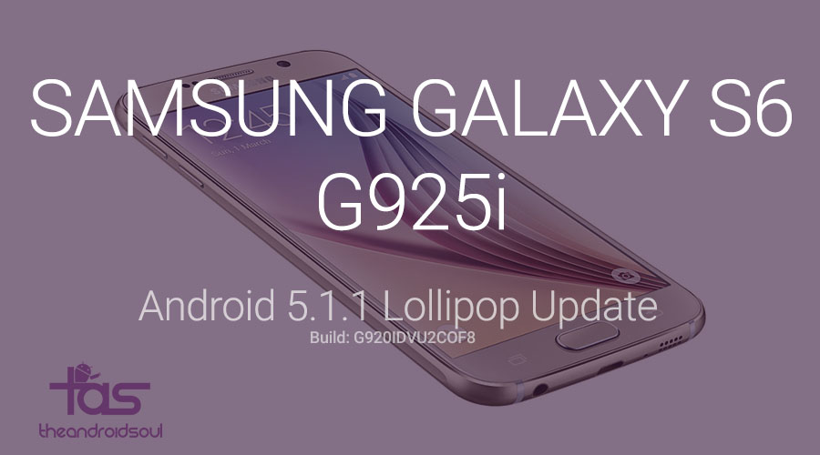 Galaxy S6 Edge G925i 5.1.1 update