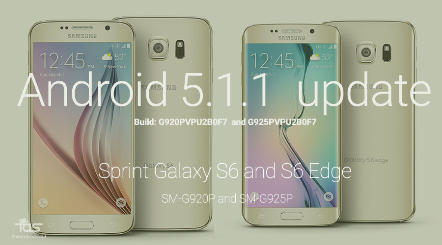 Download Sprint Galaxy S6 And S6 Edge 5.1.1 Update In Odin