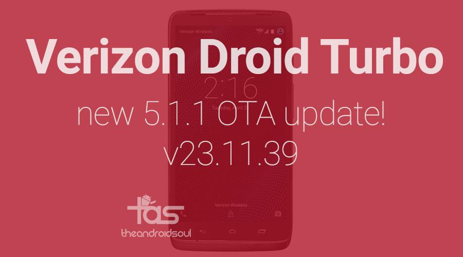 Verizon Droid Turbo 5.1.1 Update 23.11.39