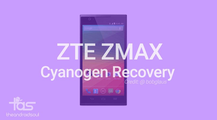 zte zmax Cyanogen recovery