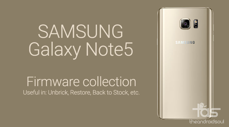 Galaxy Note 5 stock firmware download