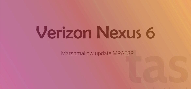 Verizon Nexus 6 Marshmallow OTA