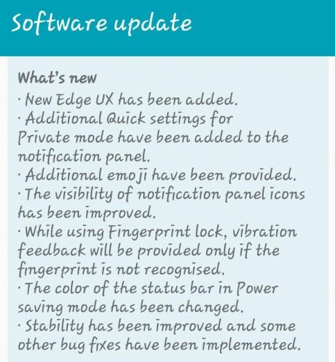 Galaxy S6 Update PA1