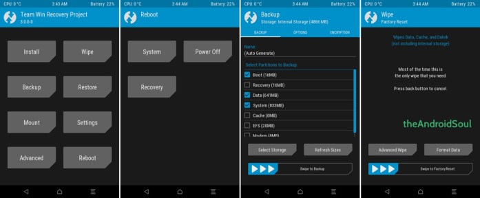 TWRP Recovery Galaxy Core Prime
