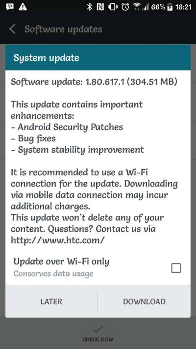 htc 10 update unlocked usa