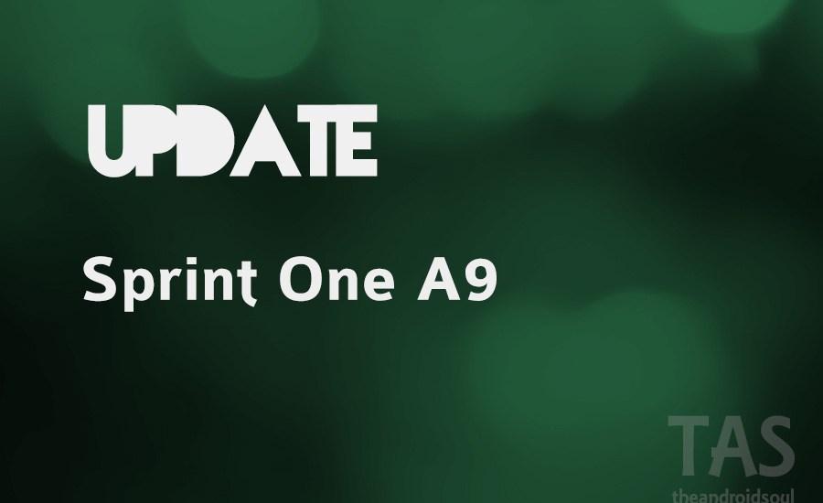 sprint one a9 update