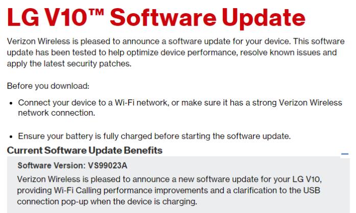 LG V10 update