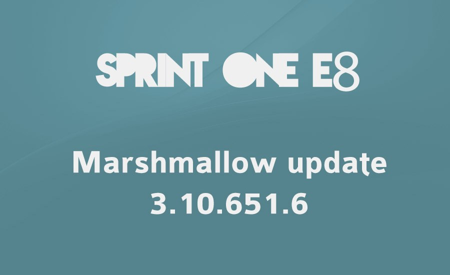 sprint one e8 Marshmallow