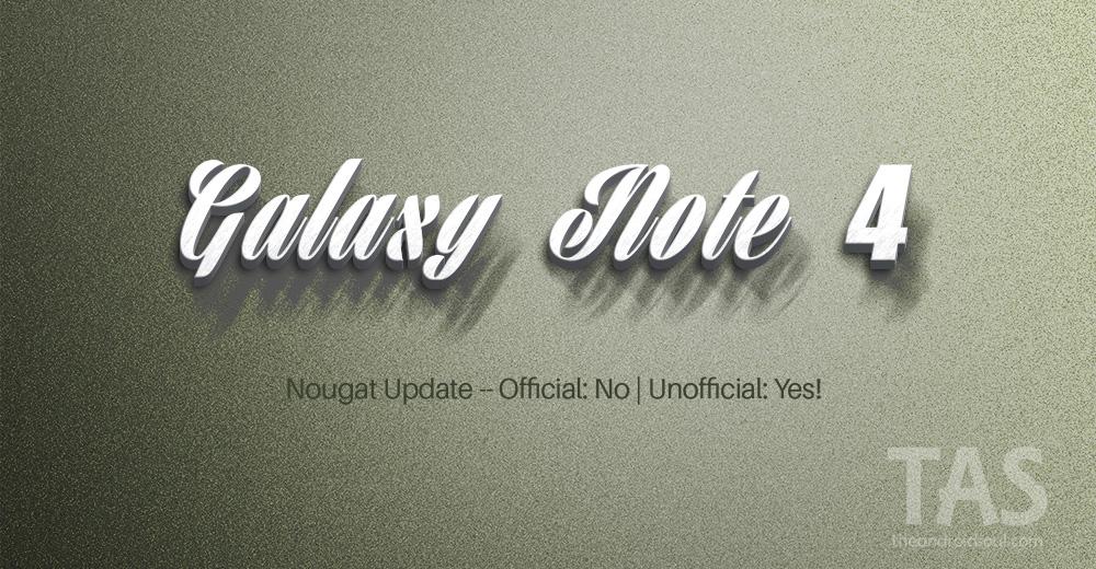 Note 4 Nougat update
