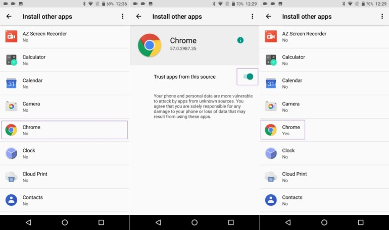Install other apps Android O