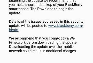 blackberry dtek50 update
