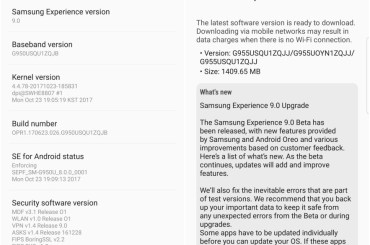 samsung Android Oreo release US