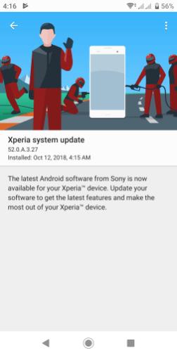 Xperia XZ2 update