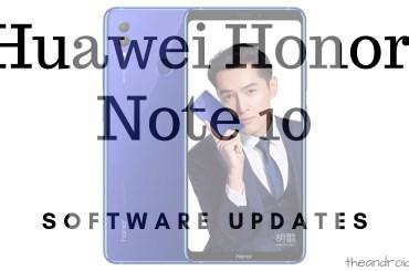 Huawei Honor Note 10 update