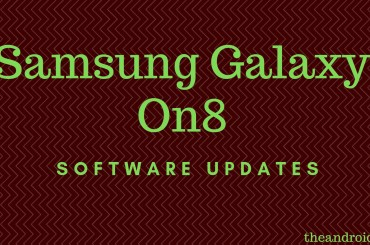 Samsung Galaxy On8 software updates