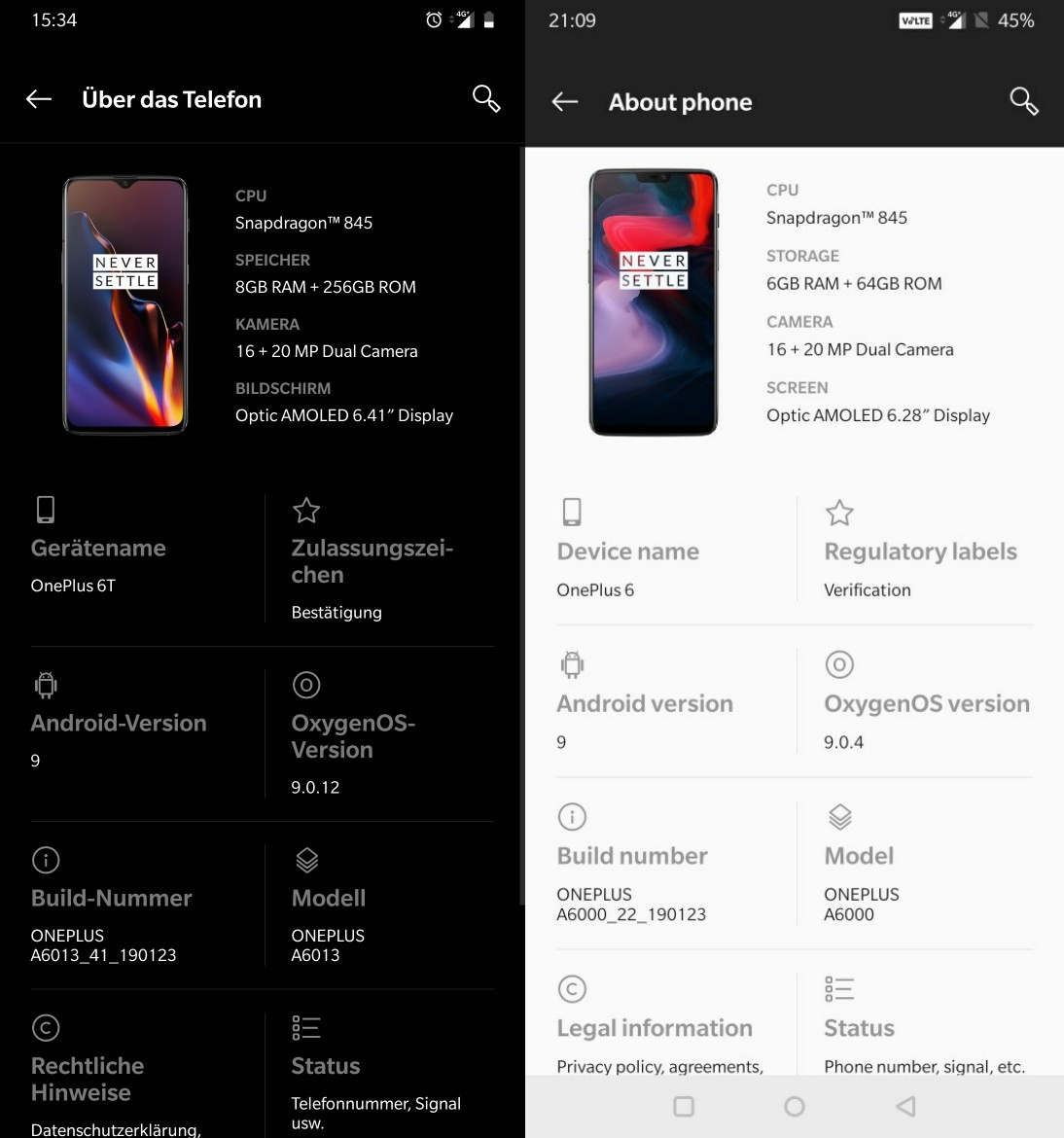 OnePlus 6T and OnePlus 6 update
