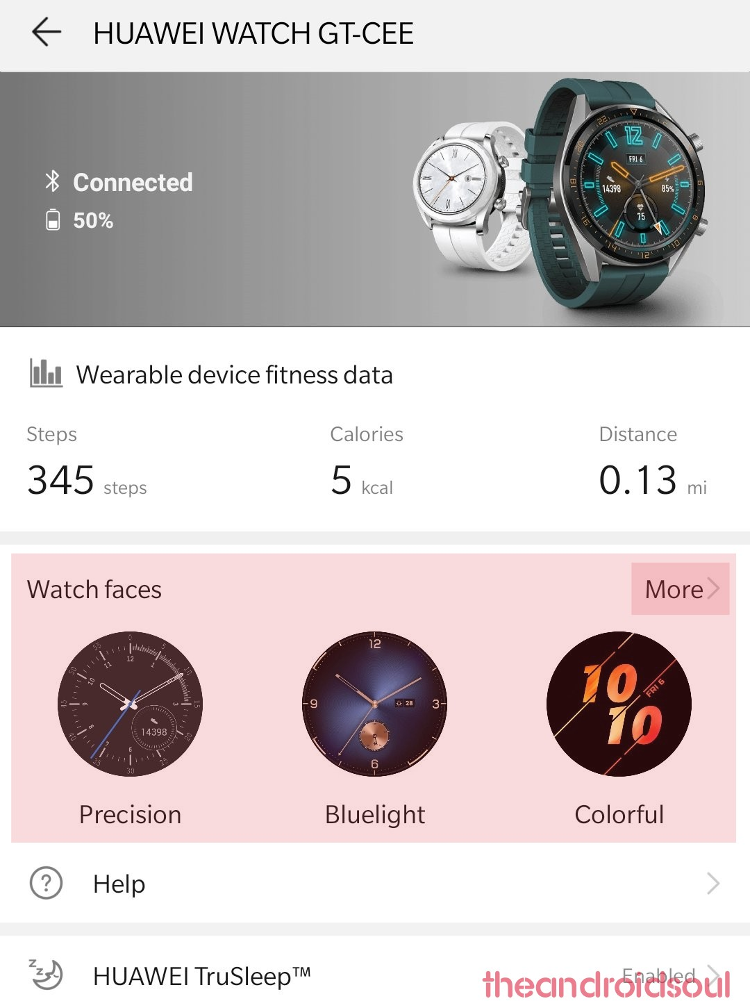 Watch GT watch faces option
