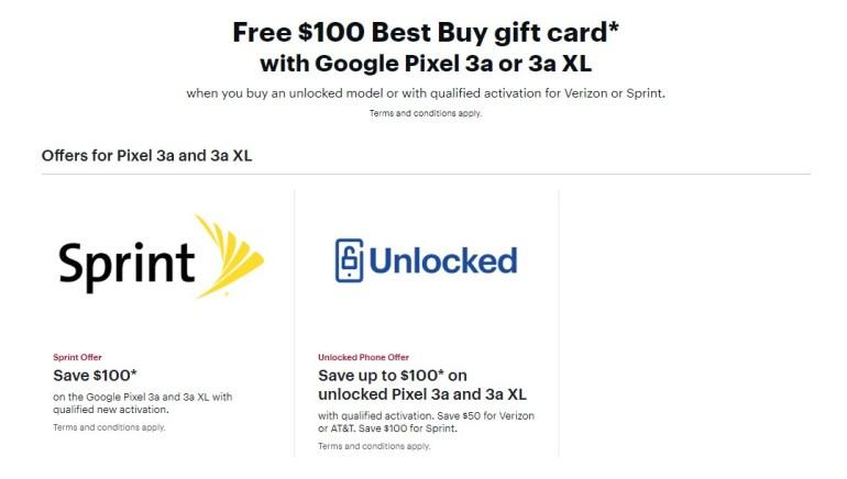 Best buy Pixel 3a deal