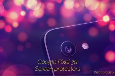 Google Pixel 3a screen protectors