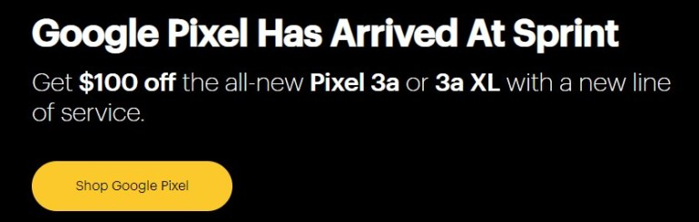 Sprint Pixel 3a deals