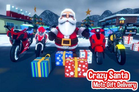 Santa Christmas Moto Gift Delivery -1