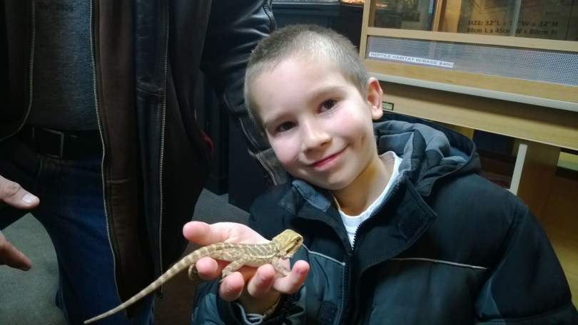 Matthew and his Bearded Dragon